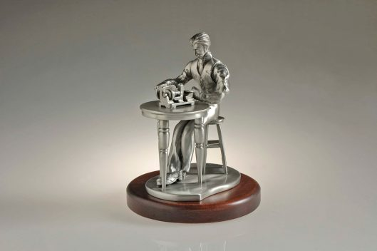 HC100HF The Histologist Pewter Figurine